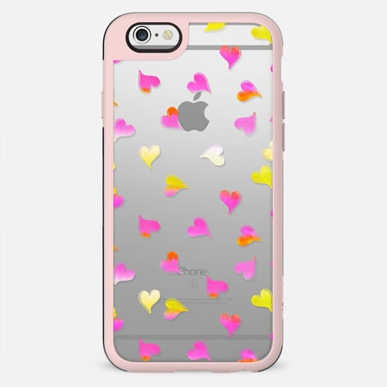 Pink yellow gradient hearts clear - New Standard Case