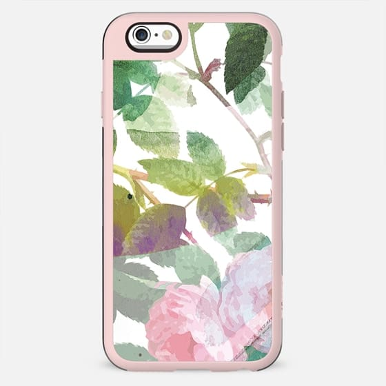 Watercolor painted roses stylised - New Standard Case