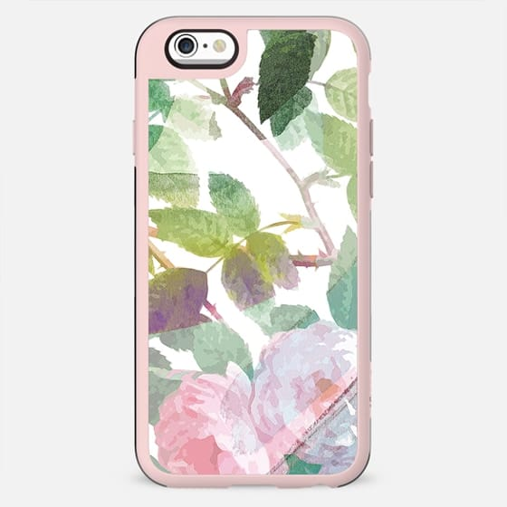 Watercolor painted roses on white - New Standard Case