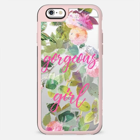 Pink painted roses gorgeous girl clear - New Standard Case