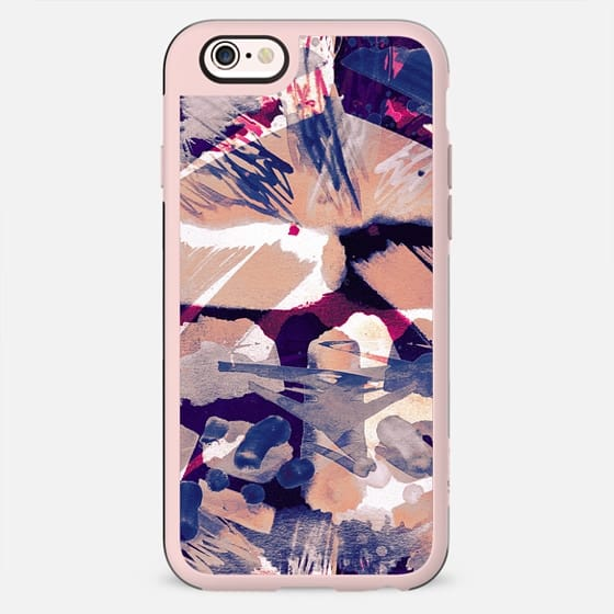 Abstract peach blue watercolor sketch - New Standard Case