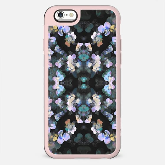Painted pansy petals on dark background - New Standard Case
