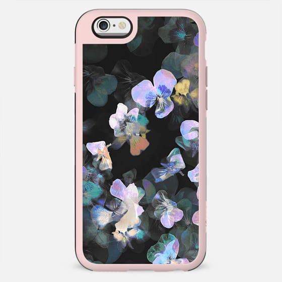 Painted dark pansy petals - New Standard Case