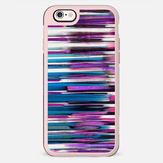 Purple blue brushed stripes