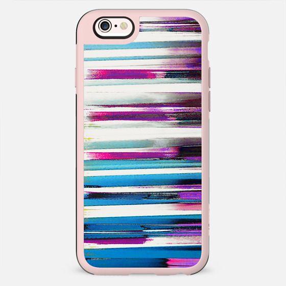 Magenta blue brushed stripes - New Standard Case