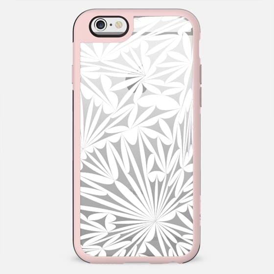 White transparent floral lace clear - New Standard Case