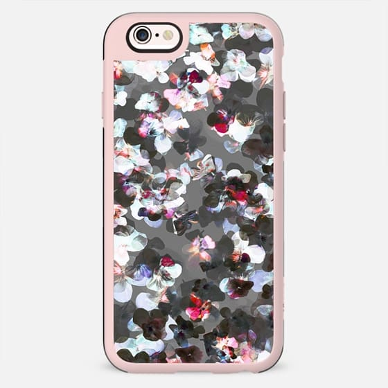 X-ray pansy petals desaturated floral - New Standard Case