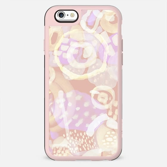 Painted doodle spots - pastel pink yellow - New Standard Case