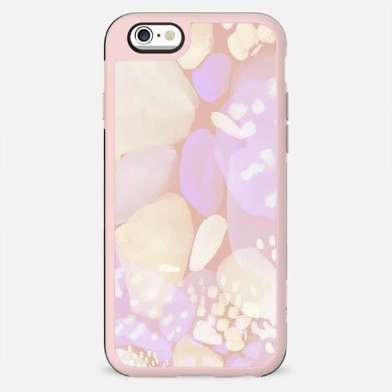 Pastel peach watercolor doodle dots - New Standard Case