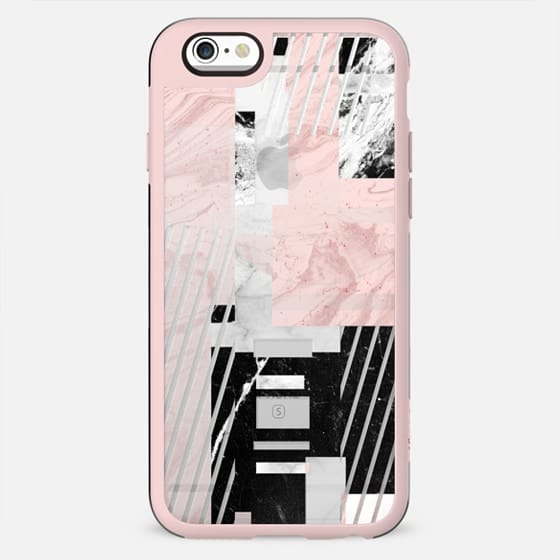 Geometric marble composition collage - New Standard Case