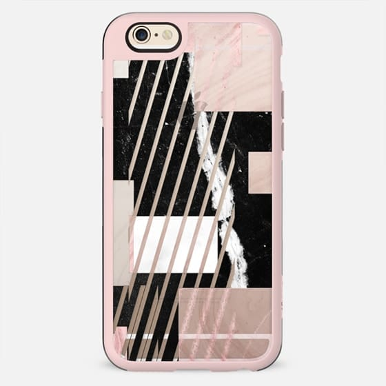 Minimal Geometric marble composition stripes - New Standard Case