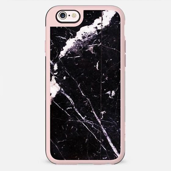 Cracked black marble elegant texture - New Standard Case