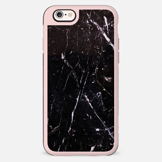 Cracked black marble cracks