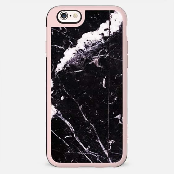 Cracked black marble texture - New Standard Case
