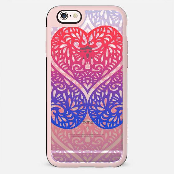 Gradient transparent lace hearts
