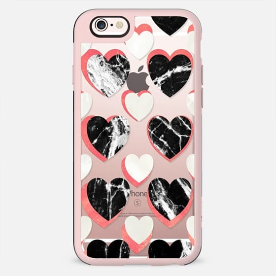 Marble hearts clear case - New Standard Case