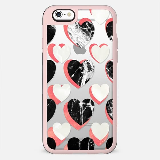 Marble hearts clear - New Standard Case