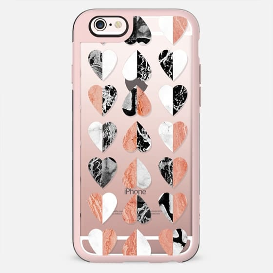 Marble stone hearts pattern clear - New Standard Case
