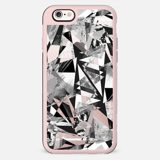 Textured black and white marble triangles - New Standard Case
