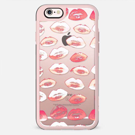 White red lipstick kisses 2