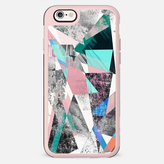 Street art textured triangles marble colorful - New Standard Case