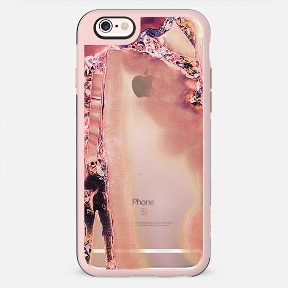 Pink golden precious stones transparent