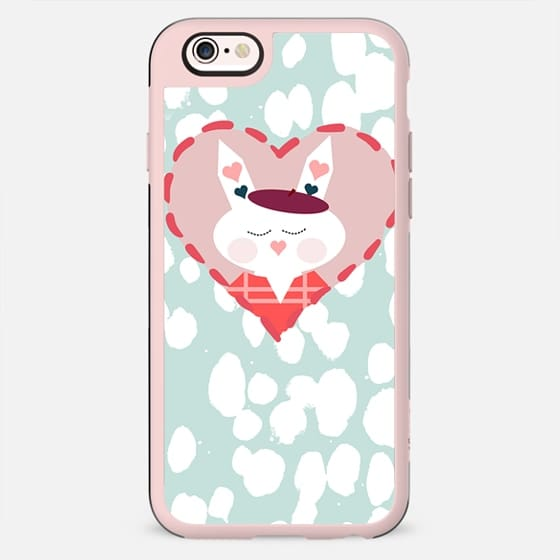 Cute bunny heart and painted dots - New Standard Case