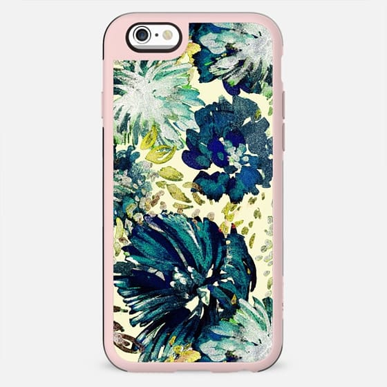 Brushed painted flowers print tropical - New Standard Case