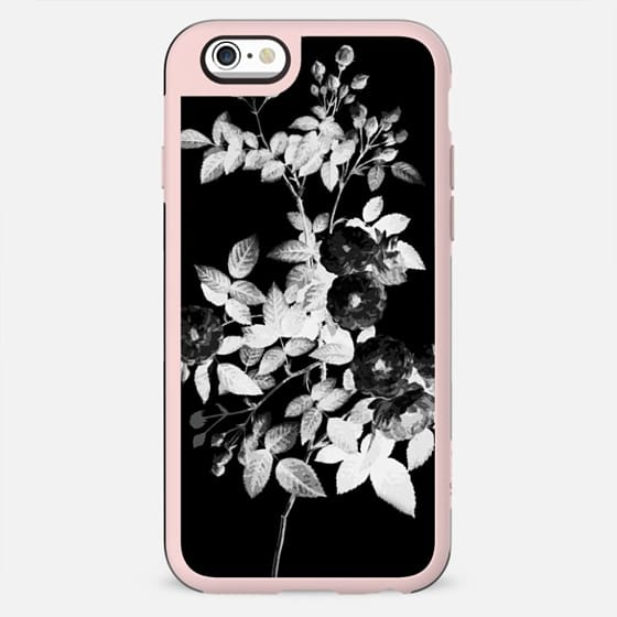 Black and white faded ink rose - New Standard Case