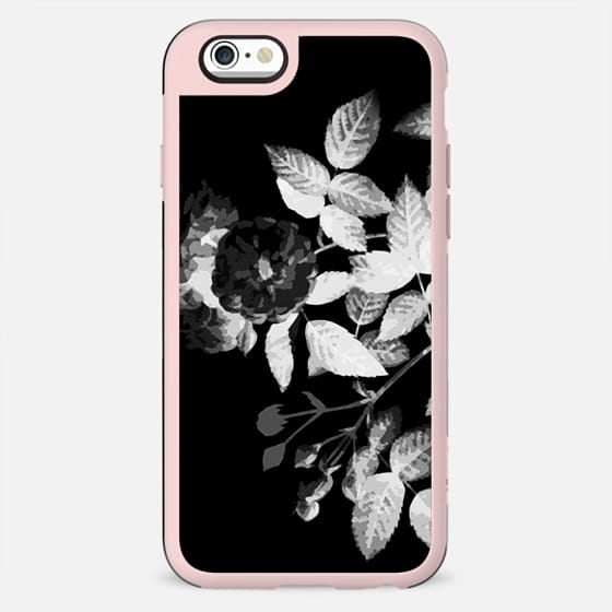 Black and white faded x-ray roses - New Standard Case
