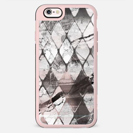 White grey transparent marble tile - New Standard Case