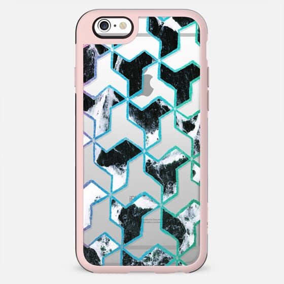 Geometric marble collage pattern clear - New Standard Case