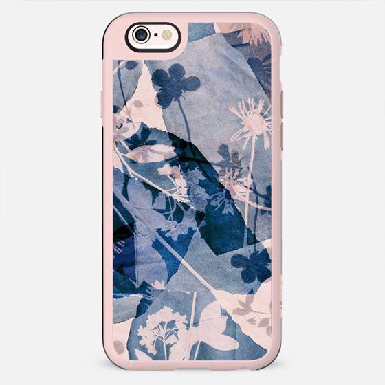 Cyanotype flowers on torn paper 2 - New Standard Case