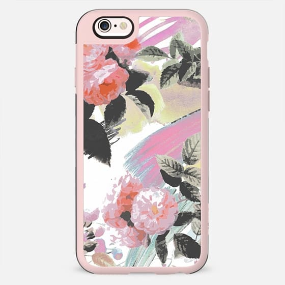 Pink romantic brushed roses and foliage - New Standard Case