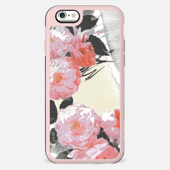 Minimal pink painted roses - New Standard Case