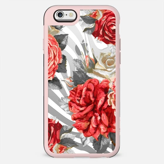 Romantic red roses and white stripes - New Standard Case