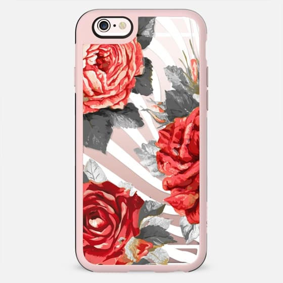 Red roses and white stripes - New Standard Case