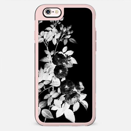 Black and white roses on black - New Standard Case
