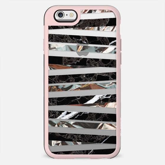 Black and metallic marble stripes clear - New Standard Case