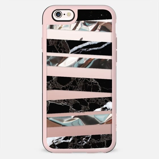 Black and metallic marble clear - New Standard Case