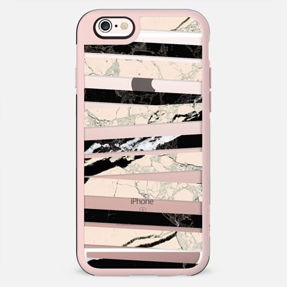 Cracked duotone marble stripes clear