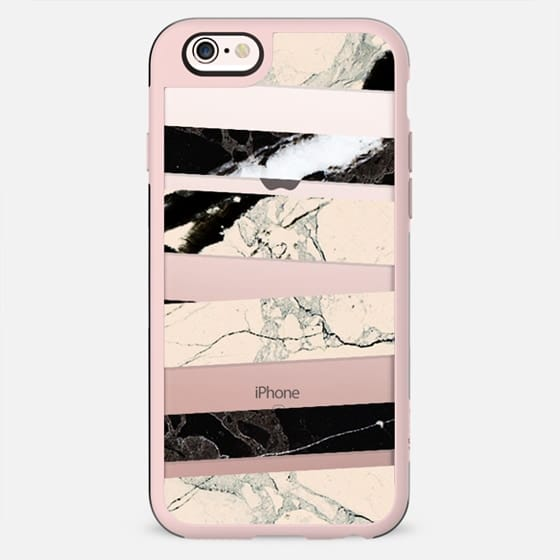 Cracked marble stripes clear case - New Standard Case