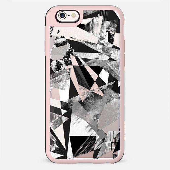 Geometric triangles textured stone graffitti clear case - New Standard Case
