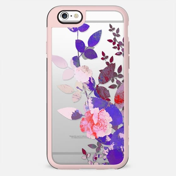 Pink purple roses and leaves - New Standard Case