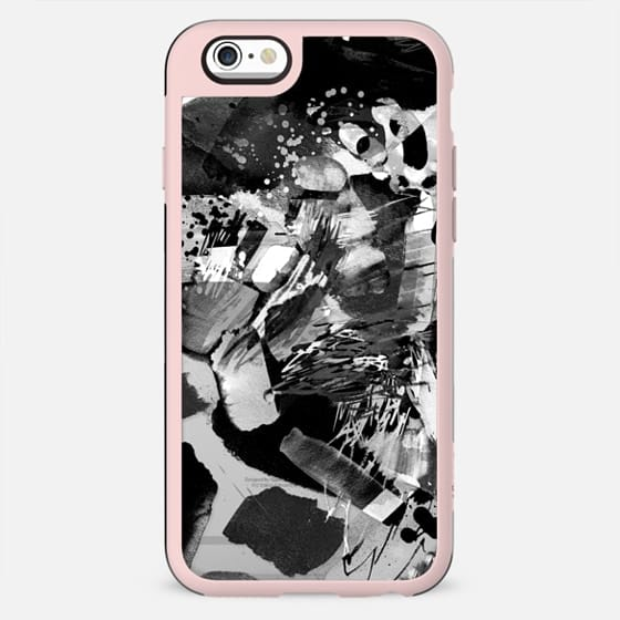 Black and white watercolor painting - clear case