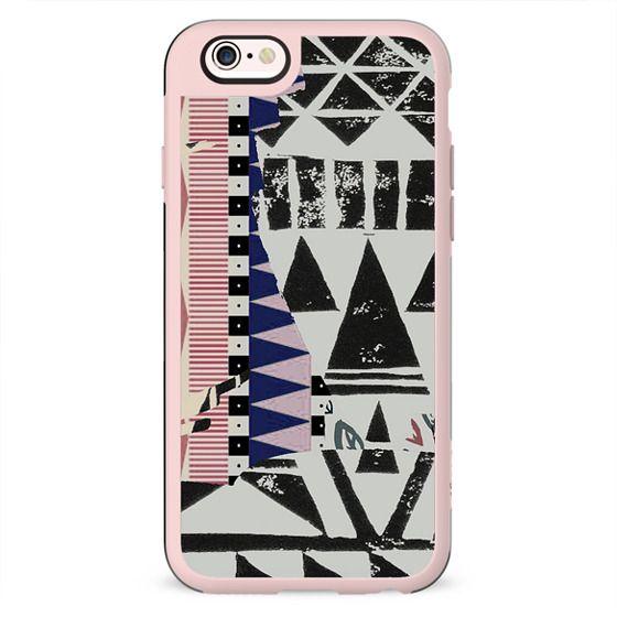 Tribal block print triangles