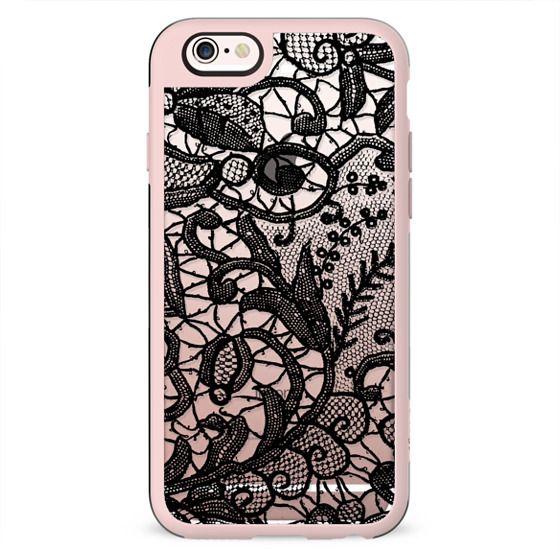 Black lace - clear case