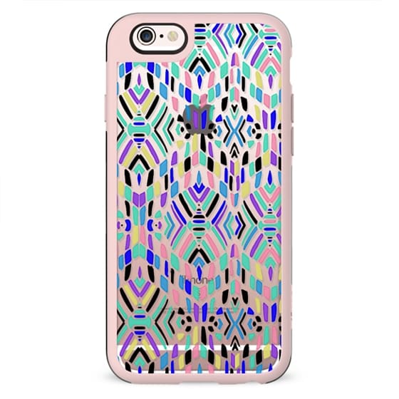 Colourful ethnic pattern - clear