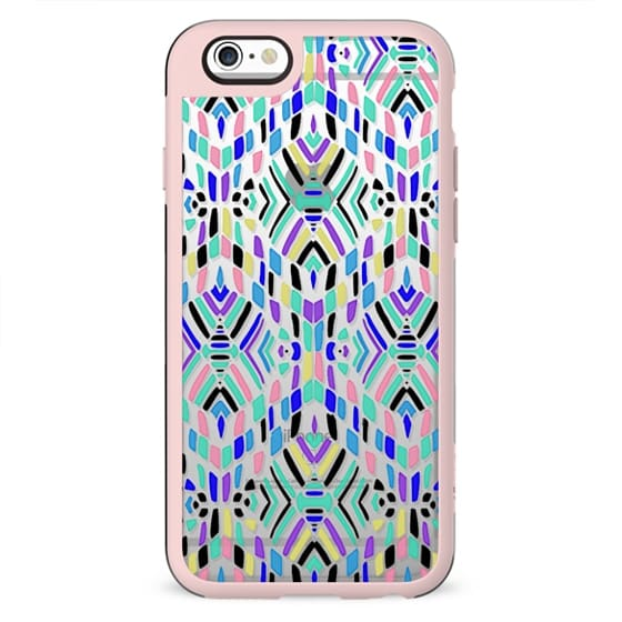 Multicolour ethnic pattern - clear
