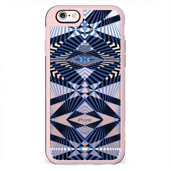 Art Deco blue stripes - clear